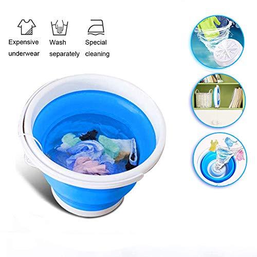 Mini Waschmaschine, Reise Waschmaschine, Automatische Waschmaschine, USB-Stromversorgung, Einfache Bedienunug Kann Wäscht Schnell und Effektiv, Perfekt für Zu Hause und Auf Reisenblue