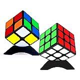 TOYESS Zauberwürfel Set , Speed Cube Set, Zauberwürfel 3x3+2x2 , 3D Puzzle Spielzeug für Kinder (Schwarz)