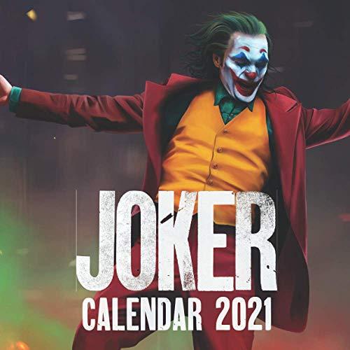 Joker Calendar 2021: Mini wall calendar 2021-2022 With 16 months