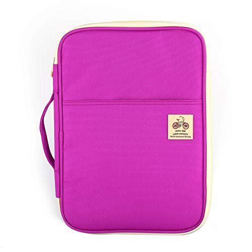 ZZALLL A4 Document Laptop Handbag Sleeve Bag Case for - Purple