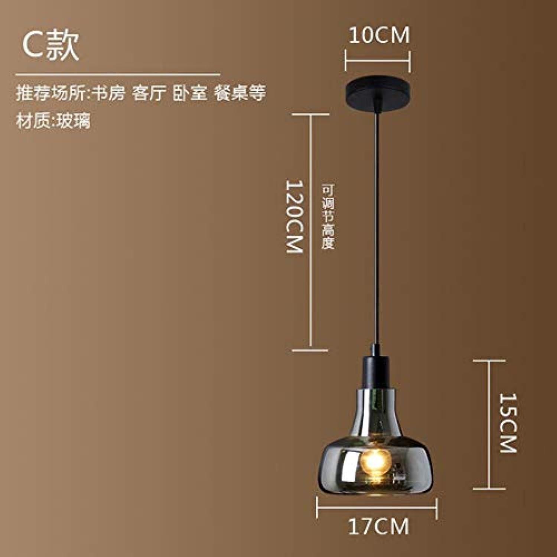 5151BuyWorld Lampe Vintage Glaspendelleuchten Loft-Dekor-Led Einzelpendelleuchte Esszimmer American Style Hngeleuchte Fixture Top Qualitt {C & Saubere Glas}