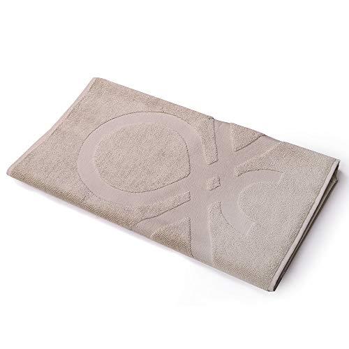 UNITED COLORS OF BENETTON. Alfombra de baño 50x80cm 750gsm 100% algodón Beige Casa Benetton, 80x50