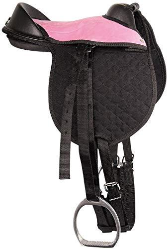 Reitsport Amesbichler Harry's Horse - Cojín de equitación para niños, color negro y rosa