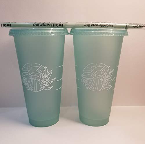 Starbucks 2021 Earth Day Becher für kalte Getränke, 680 ml, 2 Stück