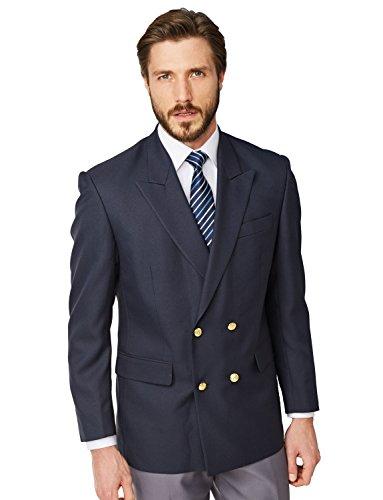 Chums Zweireihiger Oxford-Blazer für Herren Blau 50