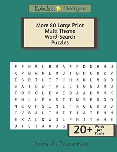 More 80 Large Print Multi-Theme Word-Search Puzzles: Challenging Word Searches To Exercise The Mind