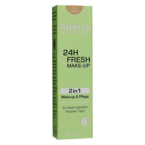 Alterra 24h Fresh Make-up 30 ml Farbe 02: medium, 2in1 Make-up & Pflege, für einen natürlich frischen Teint, zertifizierte Naturkosmetik
