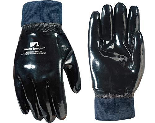 Wells Lamont Work Gloves, Neoprene Coated, One Size (190) , Black
