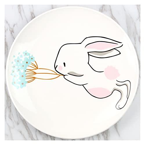 Porzellanteller 8 Zoll Kaninchen Runde...