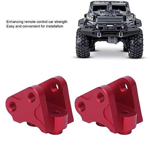 Dilwe RC Link Halterung, Vorne Hinten Unten Stoßdämpfer-Link-Halterung Kompatibel mit SCX10-II AXIAL RC-Car( Rot )