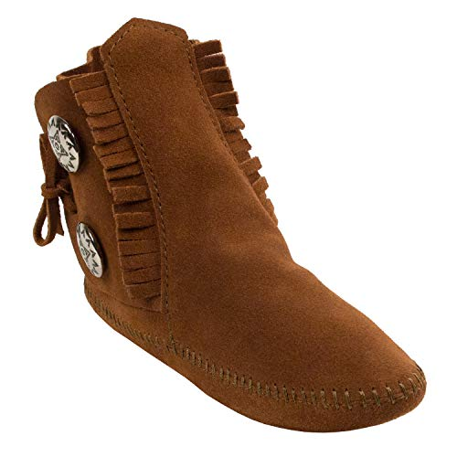Minnetonka Women's Two Button Ankle Boots, Brown (Brown), 9.5 B(M) US