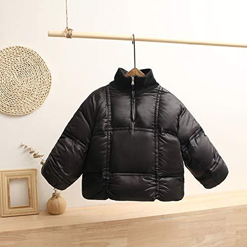 FDSAD Veste Chaude Courte pour Enfant Veste Chaude Veste Épaisse Adaptée À La Taille 120Cm Noir