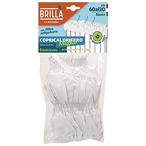 Briancasa Magico Copricalorifero Elasticizzato, per caloriferi da 60 a 120 cm, Tessuto, Bianco, 60-120 cm