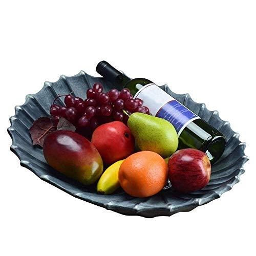Bandeja de frutas Estilo europeo Fruit Bowl para mesa de mesa Decoración de mesa lujosos platos de dulces creativos Artículos de mobiliario (tamaño, 45 * 36 * 8cm), 36 * 28 * 8cm Bowl (Tamaño: 45 * 36