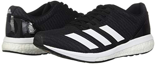 adidas Men's Adizero Boston 8 Running Shoe, Black/White/Grey, 12 M US 11