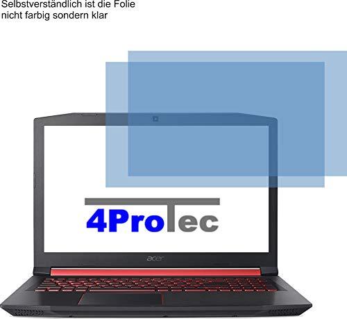 4ProTec I 2X Crystal Clear klar Schutzfolie für Acer Nitro 5 AN515 Bildschirmschutzfolie Displayschutzfolie Schutzhülle Bildschirmschutz Bildschirmfolie Folie