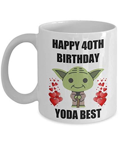 40.o regalos de cumpleaños para Yoda La mejor mamá, papá, esposo, esposa, hija, hijo, hermano, hermana, gay, lesbiana, pareja, hombres, mujeres, ella, él, Star Wars, taza de café