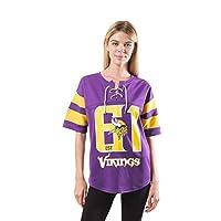 Ultra Game NFL Minnesota Vikings Womens Penalty Box Jersey, Team Color, Medium
