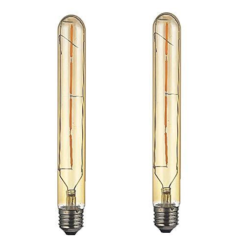 2 Pezzi E27 Lampadina LED 4W Lungo Tubo T30 Lampadina a Filamento Sostituire la lampadina alogena da 40W E27,400LM Bianca Calda 2300K Non Dimmerabile