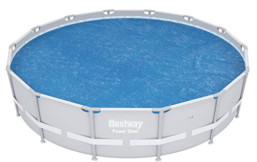Bestway 14ft Round Above Ground Swimming Pool Solar Heat...