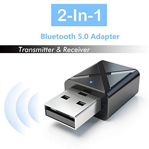 Blizim Bluetooth 5.0 Adapter USB Dongle Transmitter Sender Empfänger 2-in-1