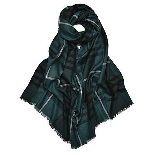 IGRNG Schal, zart und weich Karierter Wollschal Herbst und Winter Weit Silky Wool Warme Wollschal warm und atmungsaktiv, während eine Dame,6