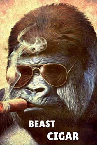 BEAST CIGAR: The Smoker Book For Connoisseurs who love Smoke Cigars / The Perfect Pharaoh Gift cigar For cuban Aficionado / 6 x 9 paperback guitar
