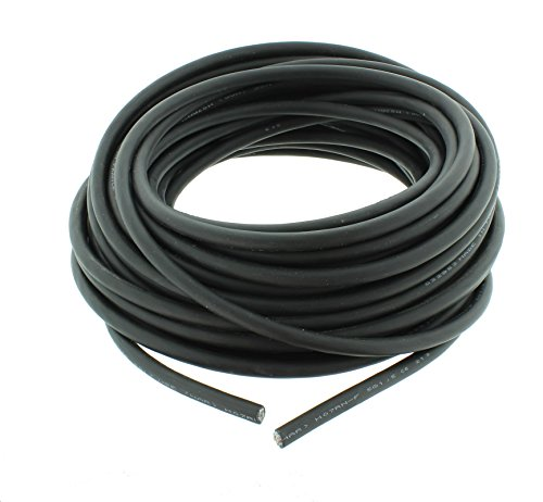 Schwere Gummischlauchleitung Gummikabel Elektrokabel H07RN-F 3G 1,5 25 Meter Ring Schwarz