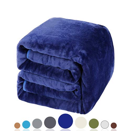 Balichun Soft Fleece Queen Blanket Winter Warm Brushed Flannel Blankets All Season Lightweight...