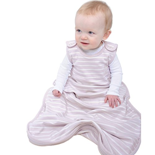 Woolino 4 Season Ultimate Baby Sleep Bag Sack - 2-24 Months Universal Size - Merino Wool - Lilac