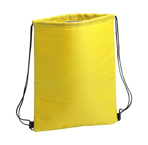 sin4sey 2 x borse frigo da palestra, con pellicola isolante (giallo)