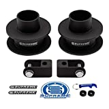 Supreme Suspensions - Front Leveling Kit for 2005-2020 Ford F250 + F350 Super Duty 2.5' Front Lift Spacers + Laser-Cut Shock Extenders High-Strength Steel Suspension Lift Kit 4WD