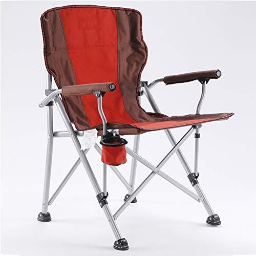 Silla de Camping Plegable, con cómodo Asiento de Esponja, Soporte para Tazas,...