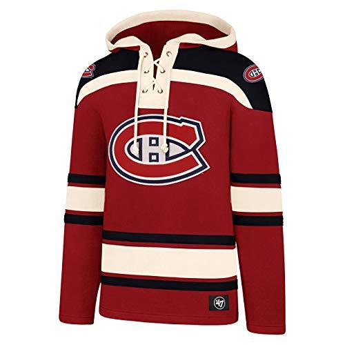 '47 NHL Eishockey Hoody Hoodie Kaputzenpullover Sweater Montreal Canadiens Lacer Jersey Trikot Hooded (L)