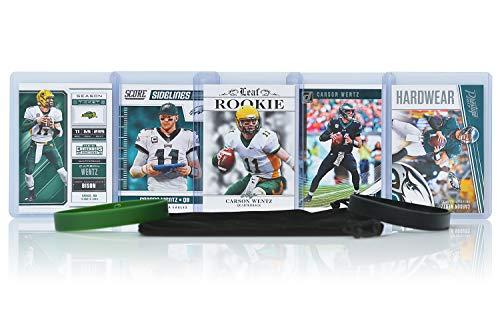 Carson Wentz Football Cards Assorted (5) Bundle - Philadelphia Eagles Trading Cards