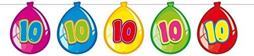 Folat - Guirnalda con Globos De Cumpleaños 10 años - Multicolor - 10 Metros