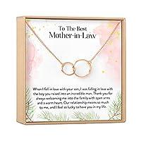 Dear Ava 母義のギフト ネックレス:私の義母へ 夫の母へ 2つの非対称の円