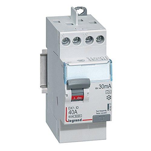 Legrand 411617 Interrupteur différentiel bipolaire, 40a, 30 mA, 230V