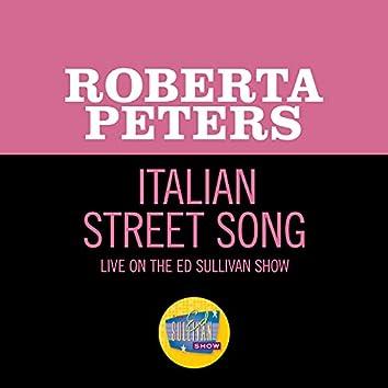Italian Street Song (Live On The Ed Sullivan Show, April 26, 1964)