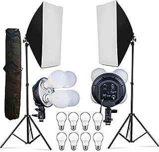 HIFFIN® Softbox Led HIFFIN E2000 Mark II Softbox Light Kit Double, HIFFIN E2000 Mark II Softbox Light Kit Double