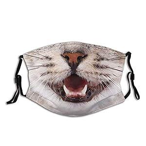 Maschera viso animale, maschera animale cane divertente passamontagna antipolvere, lavabile e riutilizzabile con 2 filtri