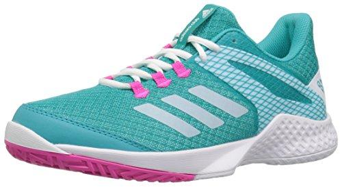 adidas Women's Adizero Club 2 Tennis Shoe, hi-res Aqua/White/Shock Pink, 5 M US