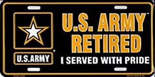 Ramson's Imports Inc. U.S. Army Retired Metal License Plate
