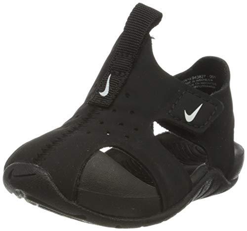Nike Unisex Baby Sunray Protect 2 (td) Durchgängies Plateau Sandalen, Schwarz (Black/White 001), 21 EU