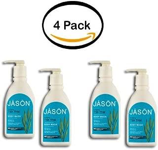 PACK OF 4 - Jason Body Wash Purifying Tea Trea, 30.0 FL OZ