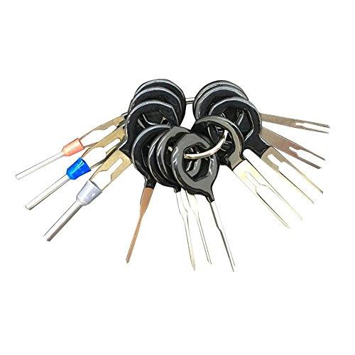 Velidy Outil de Démontage Terminaux Lot de 11 Voiture Câblage Électrique Connecteur à Sertir Broche Extracteur Kit