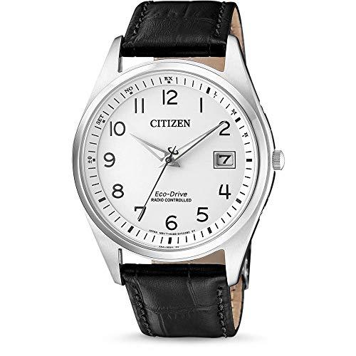 CITIZEN Herren Analog Solar Uhr mit Leder Armband AS2050-10A