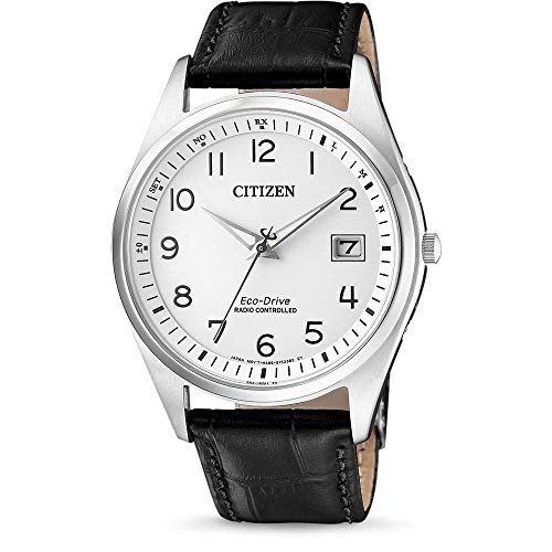 CITIZEN Herren Analog Solar Uhr mit Leder Armband AS2050-10A