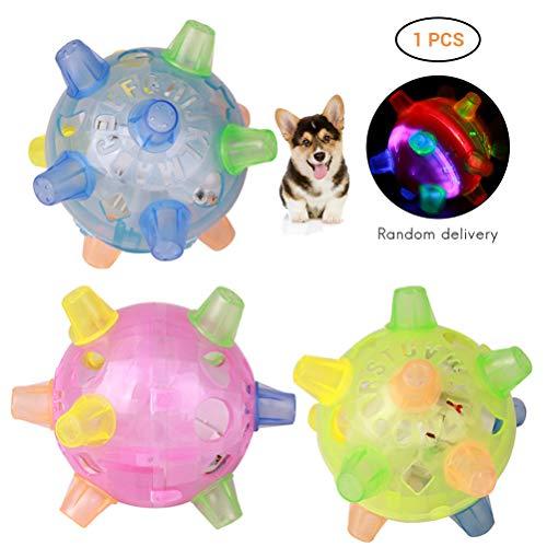 Glueckme Haustiere Bälle Hundeball Pet Katzen LED Springen Bälle Tanzen Ball Blinkender Musikball für Hund Katze Spielzeug Ball