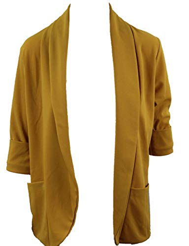 Sublevel Damen Blazer D50017F43386A senf gelb (L)